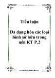 Tiểu luận Đa dạng hóa các loại hình sở hữu trong nền KT P.2.Lời mở đầu