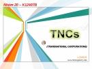 Tổng quan  TNCS
