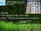 Tiểu luận: Viện trợ phát triển chính thức (ODA – Official Development Assistance)
