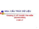 KỸ THUẬT TÌM KIẾM (SEARCHING)