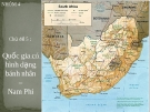 Quốc gia có hình dạng bánh nhân  –  Nam Phi