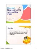 Bài giảng Thị trường chứng khoán - ThS. Nguyễn Văn Tâm