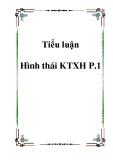 Tiểu luận  phân tích Hình thái KTXH