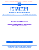 Treatment of Tuberculosis - American Thoracic Society, CDC, and Infectious Diseases Society of America