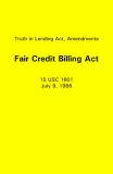 Truth in Lending Act, Amendments Fair Credit Billing Act