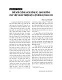 """Báo cáo """"     Đổi mới chính sách hình sự - định hướng cho việc hoàn thiện Bộ luật hình sự năm 1999 """""""