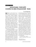 """Báo cáo """" Quan hệ ASEAN - Trung Quốc và những tác động đến quan hệ Việt - Trung """""""