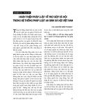 """Báo cáo """" Hoàn thiện pháp luật về trợ giúp xã hội trong hệ thống pháp luật an sinh xã hội Việt Nam """""""