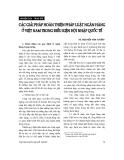 """Báo cáo """"Các giải pháp hoàn thiện pháp luật ngân hàng ở Việt Nam trong điều kiên hội nhập quốc tế """""""