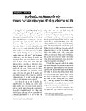 """Báo cáo """" Quyền của người khuyết tật trong văn kiện quốc tế về quyền con người """""""