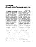 """Báo cáo """" Bước đầu nghiên cứu về cơ cấu chi trả dịch vụ môi trường tại Việt Nam """""""