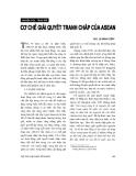 """Báo cáo """" Cơ chế giải quyết tranh chấp của ASEAN """""""