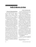 """Báo cáo """"Khái quát lịch sử hình thành và phát triển của các quy phạm về miễn hình phạt trong pháp luật hình sự Việt Nam"""""""