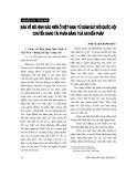 """Báo cáo """"   Bàn về mô hình bảo hiếm ở Việt Nam: Từ giám sát bởi Quốc hội chuyển sang tài phán bằng toà án hiến pháp """""""