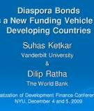 Diaspora Bonds as a New Funding Vehicle for Developing Countries