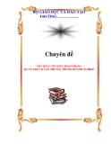 CHUYÊN ĐỀ:MÔ THỨC TỔ CHỨC HOẠT ĐỘNG QUẢN TRỊ TÀI SẢN TRÍ TUỆ TRONG DOANH NGHIỆP