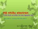 Hệ nhiều electron (Cấu hình vỏ điện tử của nguyên tử)