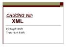 CHƯƠNG VIII:  XML