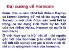 Đại cương về Hormone