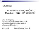 Chương 2: INCOTERMS VÀ HỢP ĐỒNG MUA BÁN HÀNG HÓA QUỐC TẾ