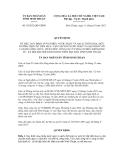 Quyết định số 59/2012/QĐ-UBND