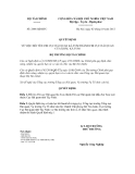 Quyết định số 2444/QĐ-BTC