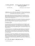 Thông báo số 350/TB-VPCP