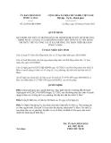 Quyết định số 22/2012/QĐ-UBND