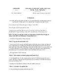 Nghị định số 78/2012/NĐ-CP
