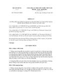 Thông tư số 07/2012/TT-BXD