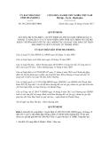 Quyết định số 3412/2012/QĐ-UBND