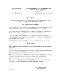 Quyết định số 2702/QĐ-BTC