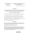 Quyết định số 2156/QĐ-NHNN