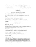 Quyết định số 40/2012/QĐ-TTg