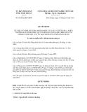 Quyết định số 56/2012/QĐ-UBND