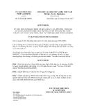Quyết định số 25/2012/QĐ-UBND