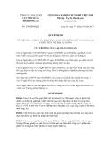 Quyết định số 299/QĐ-HQLA