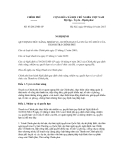 Nghị quyết số 83/2012/NĐ-CP