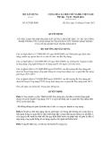 Quyết định số 927/QĐ-BXD