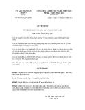 Quyết định số 09/2012/QĐ-UBND