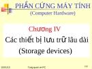 Chương IV:  Các thiết bị lưu trữ lâu dài (Storage devices)