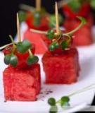 Xiên dưa hấu cà chua ngon mát