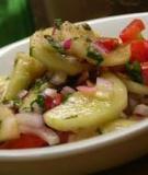 Salad dưa leo, cà chua