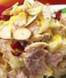 Salad gà cà ri trái cây