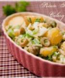 Salad khoai tây bi với cần tây và quả ô liu