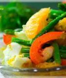 Salad măng tây và cam