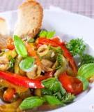 Salad ớt chuông nướng