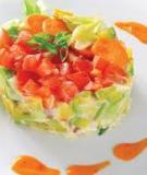 Salad quả bơ, tôm