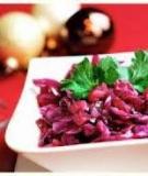 salad táo bắp cải tím