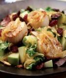 Salad táo sò điệp chiên